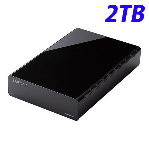 エレコム HDD USB3.0対応 外付けハードディスクドライブ 2TB ブラック ELD-CED020UBK