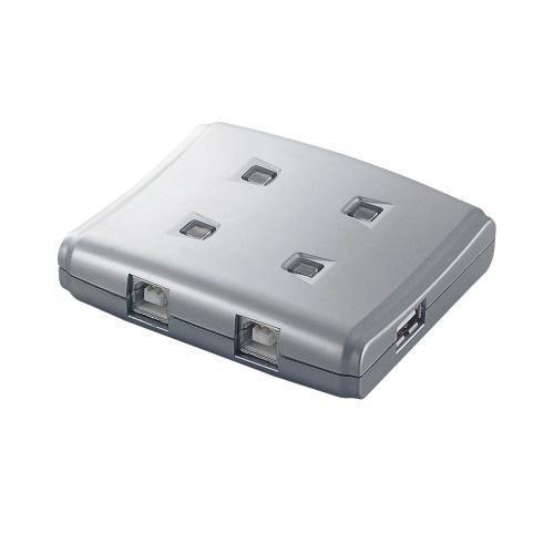 エレコム USB2.0対応 手動切替器 4台切替用 シルバー USS2-W4