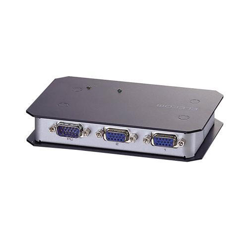 エレコム ディスプレイ分配器 ミニD-sub15ピン搭載PC用 2分配 VSP-A2