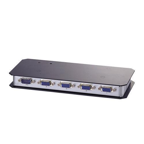 エレコム ディスプレイ分配器 ミニD-sub15ピン搭載PC用 4分配 VSP-A4