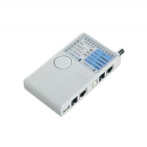エレコム リモート対応 ケーブルテスタ RJ45/RJ11/USB(ABタイプ)/BNCケーブルの結線テスト対応 ホワイト LD-RCTEST/U