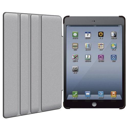 エレコム ソフトレザーケース ソフトレザーカバー 4段階調整スタンド iPad mini/mini2/mini3対応 ブラック TB-A12SPLF2BK