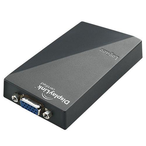 ロジテック USBディスプレイアダプタ ブラック LDE-SX015U