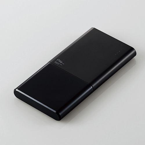 エレコム モバイルバッテリー Pile one 10000mAh ブラック DE-M08-N10048BK