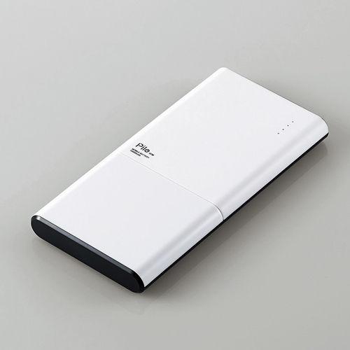 エレコム モバイルバッテリー Pile one 10000mAh ホワイト DE-M08-N10048WH
