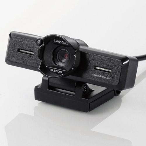 エレコム 超高精細 Full HD対応 800万画素Webカメラ ブラック UCAM-C980FBBK
