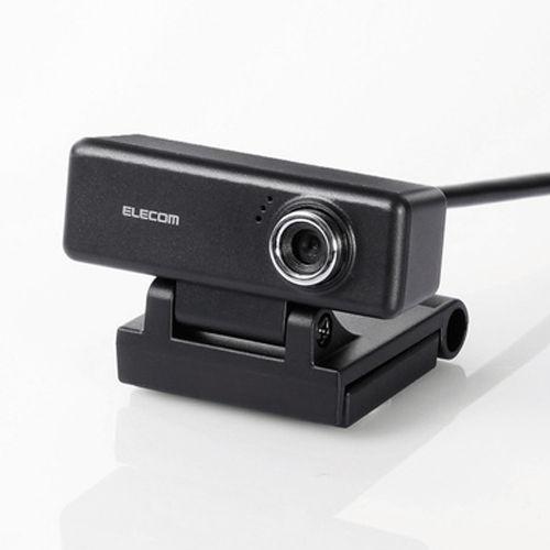 【送料無料】エレコム 高画質HD対応 200万画素Webカメラ イヤホンマイク付き ブラック UCAM-C520FEBK【他商品と同時購入不可】
