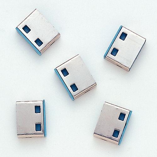 サンワサプライ セキュリティ用品 USBコネクタ取付けセキュリティ SL-46-BL用取付け部品 5個入 ブルー 1パック SL-46BLOP