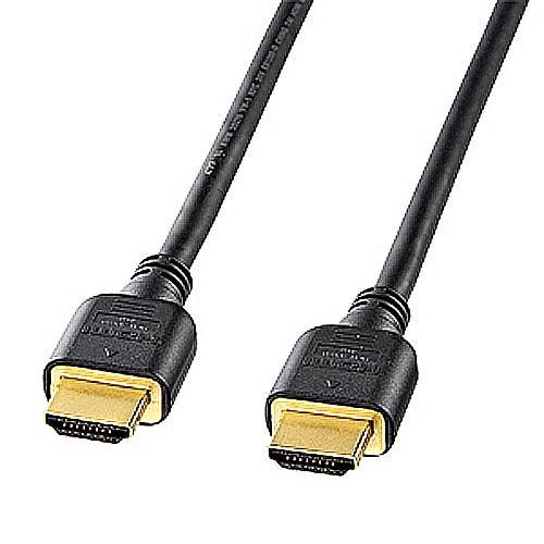 サンワサプライ HDMIケーブル ハイスピード 1m ブラック KM-HD20-10H