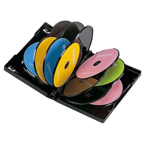 サンワサプライ DVDケース DVDトールケース ブラック 12枚 DVD-TW12-01BK