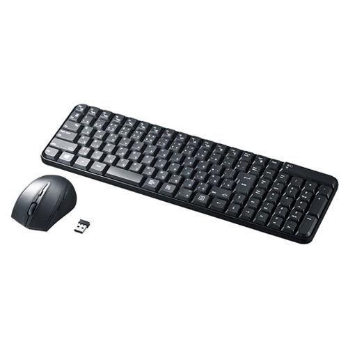 サンワサプライ 無線キーボード マウス付きワイヤレスキーボード ブラック SKB-WL25SETBK