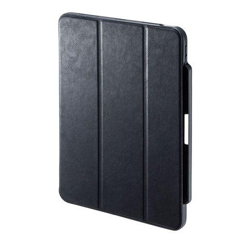 サンワサプライ iPad Air 2020 Apple Pencil収納ポケット付きケース PDA-IPAD1714BK