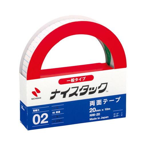 ニチバン 紙両面テープ ナイスタック 20mm×10m NW-20