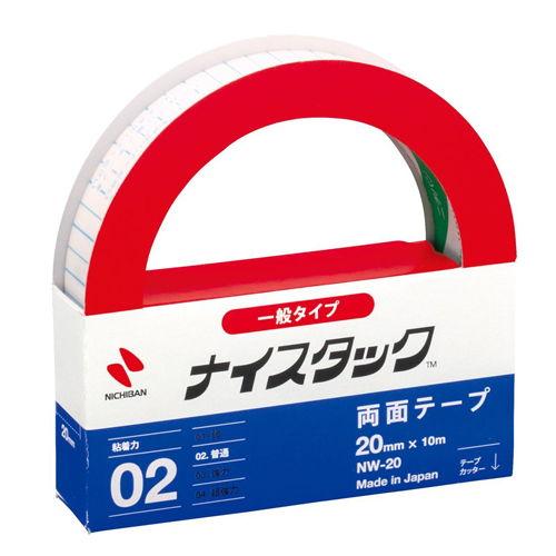 ニチバン 紙両面テープ ナイスタック 25mm×10m NW-25
