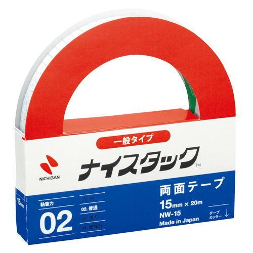 ニチバン 紙両面テープ ナイスタック 15mm×20m NW-15