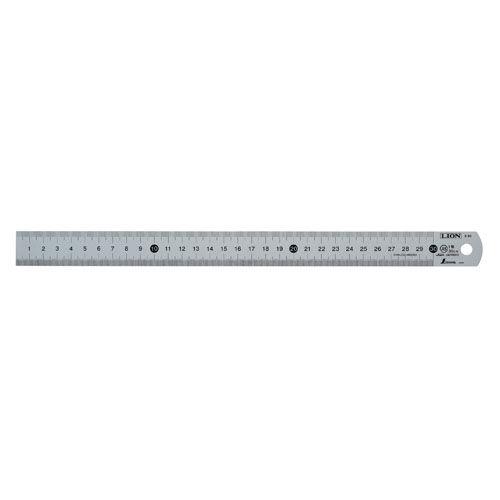ライオン事務器 ステンレス直線定規 30cm S-30