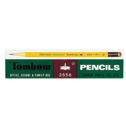 トンボ鉛筆 消しゴム付 HB 1ダース 2558-HB