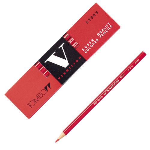 トンボ鉛筆 色鉛筆 丸軸 朱色 朱色 8900-V