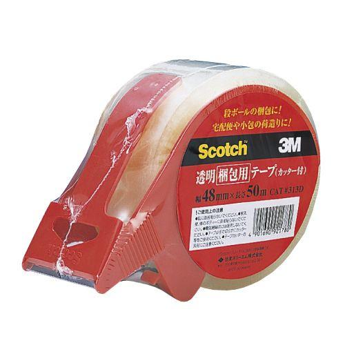 3M 透明梱包用テープ カッター付 1巻
