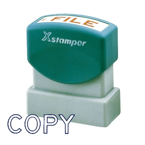 シヤチハタ Xスタンパー ビジネス用 B型 COPY 藍 XBN-10063