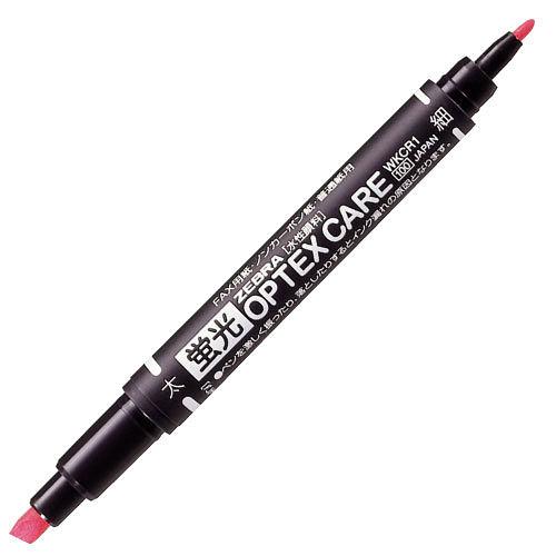 ゼブラ 蛍光ペン 蛍光オプテックスケア ツイン ピンク WKCR1-P