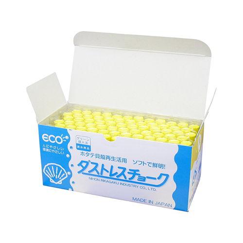 日本理化学工業 ダストレスチョーク 黄 72本 DCC-72-Y