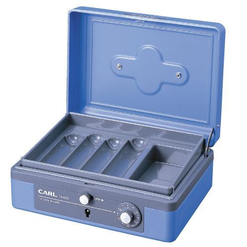 カール キャッシュボックス L ブルー CB-8200-B