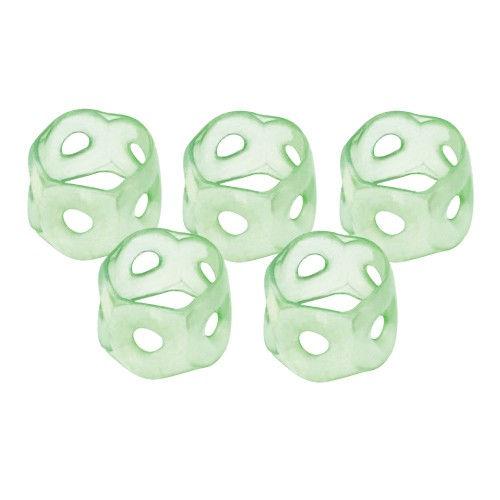 コクヨ 指サック メクリン Mサイズ 透明グリーン 5個入 メク-21TG