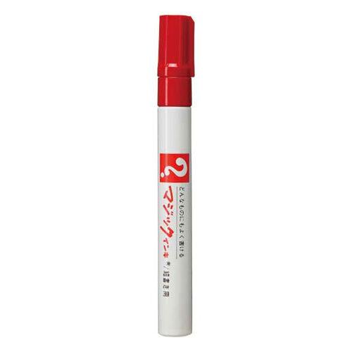 寺西化学 油性ペン マジックインキNo.500 細書 赤 M500-T2