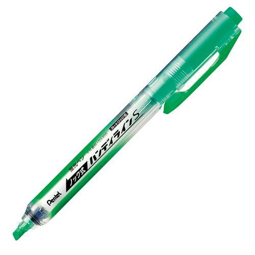 ぺんてる 蛍光ペン ノック式ハンディラインS ライトグリーン SXNS15-K