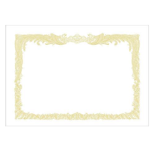 ササガワ OA賞状用紙 白上質紙 縦書き A3 10-1080