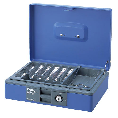 カール キャッシュボックス ブルー CB-8400-B