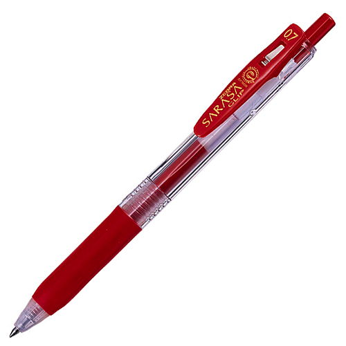 ゼブラ ジェルボールペン サラサクリップ 赤 JJB15-R