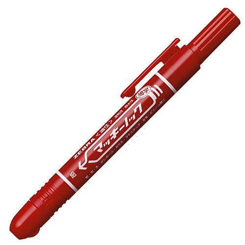 ゼブラ 油性ペン マッキーノック 細字 赤 P-YYSS6-R