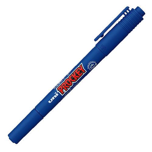 三菱鉛筆 水性マーカー プロッキー 極細+細字丸芯 青 PM120T.33