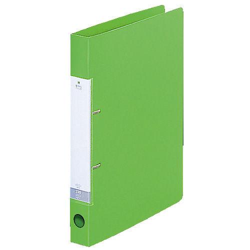 リヒトラブ リクエスト D型リングファイル A4タテ 黄緑 G2220-6