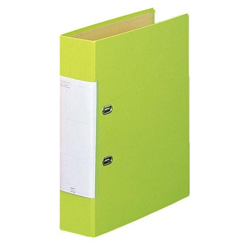 リヒトラブ リクエスト D型リングファイル くるみ貼り表紙 A4タテ 黄緑 G2250-6