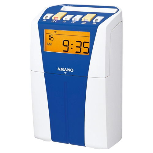 AMANO タイムレコーダー ブルー/ホワイト CRX-200BU