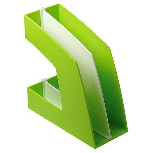 ソニック ファイルボックス タテ型 仕切付き グリーン FB-708-G