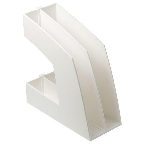ソニック ファイルボックス タテ型 仕切付き ホワイト FB-708-W