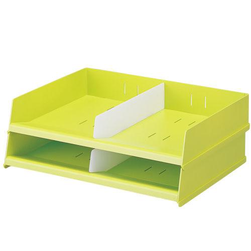 リヒトラブ フリーサイズレタートレー 黄緑 A7312-6