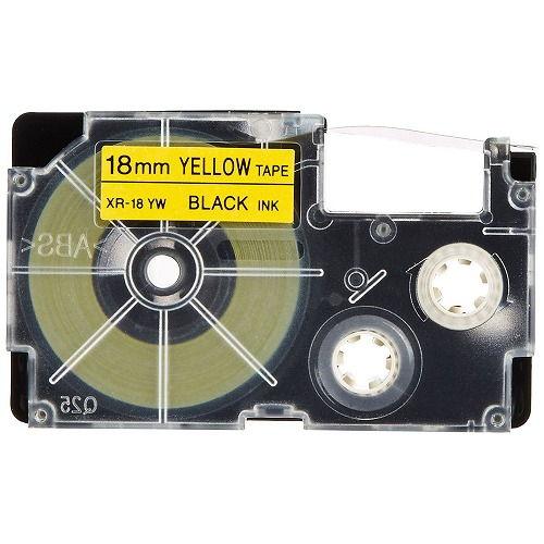 カシオ計算機 テープカートリッジ ネームランド 18mm 黄ラベル黒文字 5P XR-18YW-5PE