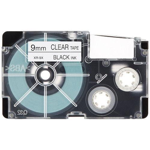 カシオ計算機 テープカートリッジ ネームランド 9mm 透明ラベル黒文字 5P XR-9X-5PE
