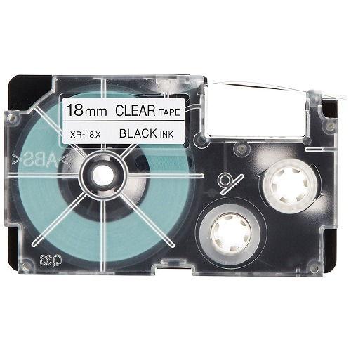 カシオ計算機 テープカートリッジ ネームランド 18mm 透明黒文字 5P XR-18X-5PE