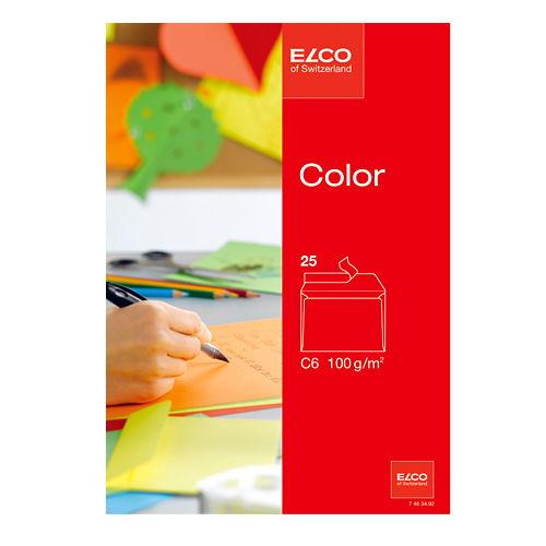 ELCOcolor 封筒C6 25枚 レッド 74634-92