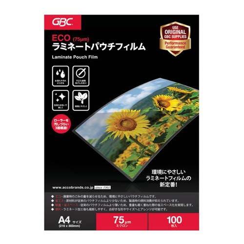 アコ・ブランズ・ジャパン ECOパウチフィルム A4 100枚 YV075A4
