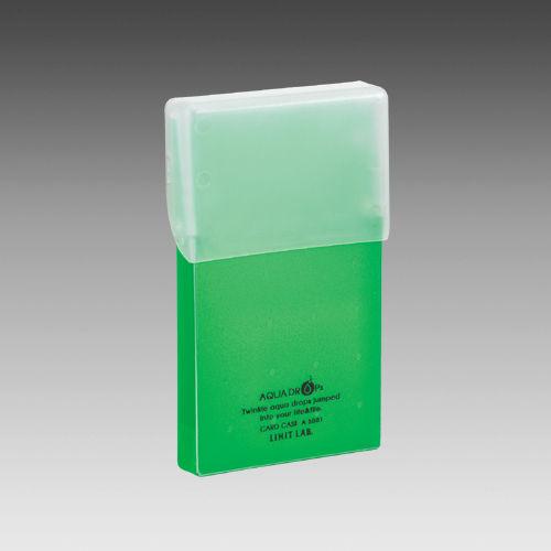 A-5001-6 リヒトラブ アクアドロップス カードケース 黄緑
