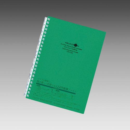 リヒトラブ AQUADROPs ツイストリング・ノート A5 緑 N-1658-7