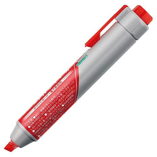 ぺんてる ハンディホワイトボードマーカー 太字 平芯 赤 MWXN6M-B