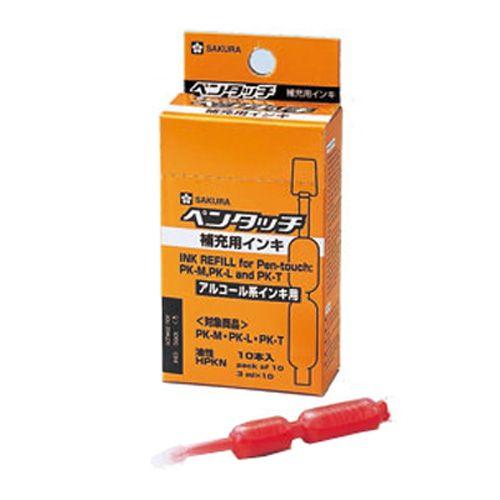 サクラクレパス 油性ペン ペンタッチ 補充インキ 中字 丸芯 赤 10本入 HPKN#19